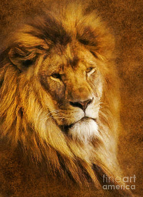 Art Print featuring the digital art King Of The Beasts by Ian Mitchell