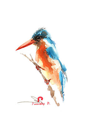Kingfisher Bird Original by Pornthep Piriyasoranant