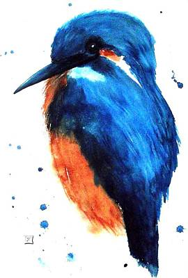 Painting - Kingfisher by Ruth Trinczek
