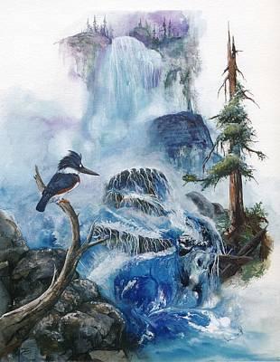 Kingfisher Mixed Media - Kingfisher's Realm by Sherry Shipley