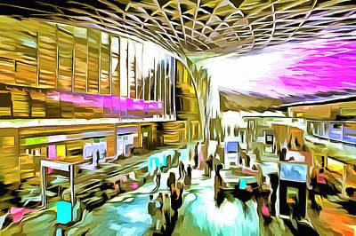 Mixed Media - Kings Cross Rail Station London Art by David Pyatt