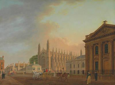 Cambridge Painting - King's Parade - Cambridge by Thomas Malton The Younger