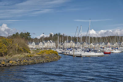 Photograph - Kip Village Marina At Greenock, Inverclyde by Jeremy Lavender Photography