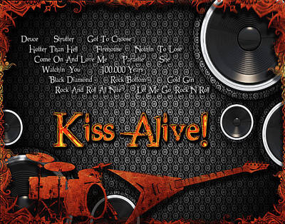Digital Art - Kiss Alive by Michael Damiani