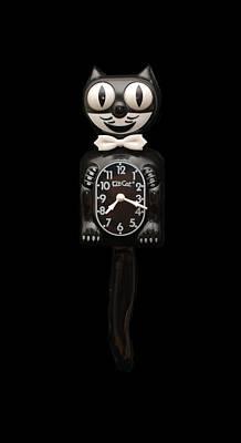 Black Cat Clock Photograph - Kit Cat Klock by Rob Hans