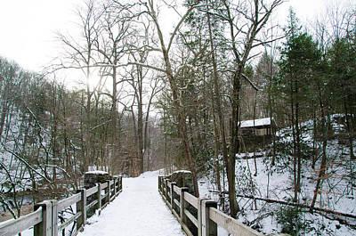 Kitchens Lane Bridge Over The Wissahickon Creek Art Print by Bill Cannon