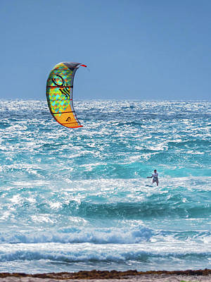 Photograph - Kite Boarding by Robin Zygelman