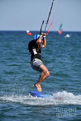 Photograph - Kite Surfing by George Atsametakis