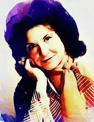 Music Paintings - Kitty Wells, Vintabe Country Singer by Esoterica Art Agency