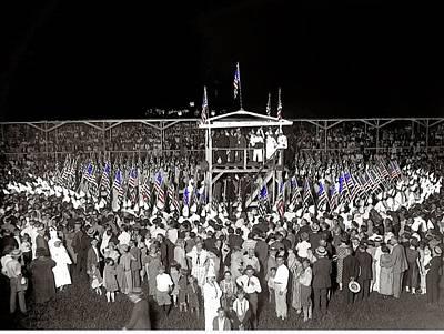Kkk Services Capital Horse Show Grounds National Photo Co. Arlington Virginia August 9 1925-2014 Art Print by David Lee Guss