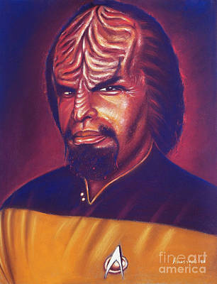 Space Ships Painting - Klingon Star Trek by Anastasis  Anastasi