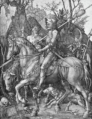 Painting - Knight Death And The Devil by Albrecht Durer
