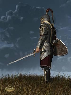 Fantasy Digital Art - Knight of the Storm by Daniel Eskridge