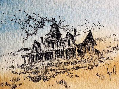 Mixed Media - Knippenberg Mansion Glendale Ghost Town Montana by Kevin Heaney