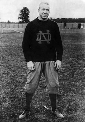 Ev-in Photograph - Knute Rockne, University Of Notre Dame by Everett