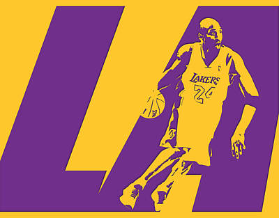 Kobe Photograph - Kobe Bryant Los Angeles Lakers by Joe Hamilton