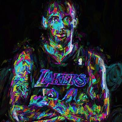 Basketball Photograph - Kobe The Golden Child Bryant Is by David Haskett