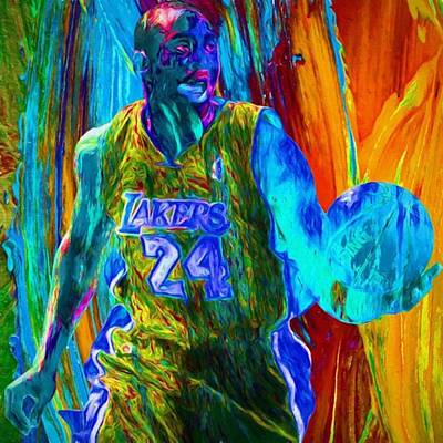 @kobebryant @lakers @dodgers Art Print