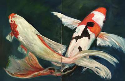 Painting - Koi Dance by Sandra Nardone
