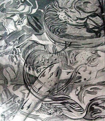 Goldfish Drawing - Koi  by Mindy Newman