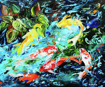 Painting - Koi Pond by Kevin Brown