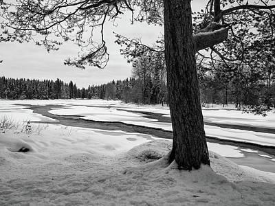 Photograph - Koitelinkosket Bw by Jouko Lehto