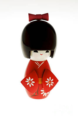 Handcarved Photograph - Kokeshi Doll by Larry Dale Gordon - Printscapes