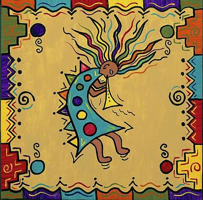 Painting - Kokopelli Dance by Susie WEBER
