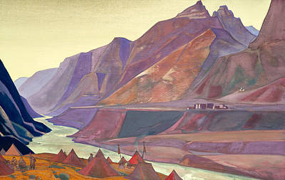 Mount Painting - Koksar Camp by Nicholas Roerich
