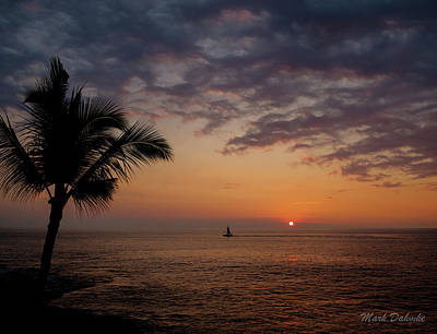 Photograph - Kona Sunset by Mark Dahmke