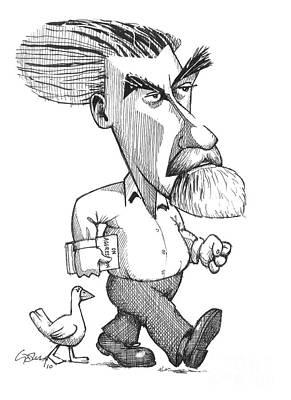 Konrad Lorenz, Caricature Art Print