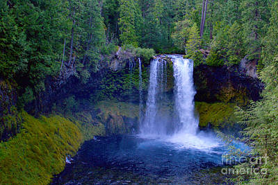 Mckenzie Pass Photograph - Koosah Falls by Sean Griffin
