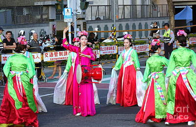 Photograph - Korean Dancers Perform At The Lantern Festival by Yali Shi