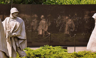 Photograph - Korean War Memorial  by John Harding