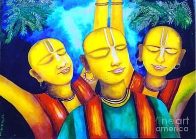 Krishna Conciousness Art Print by Pkr