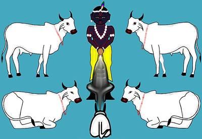Painting - Gopala The Cowherd by Pratyasha Nithin