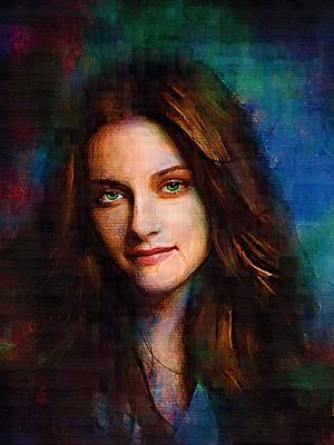 Kristen Stewart Art Print by Elena Kosvincheva