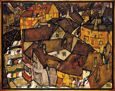 Photograph - Krumau - Crescent Of Houses by Egon Schiele