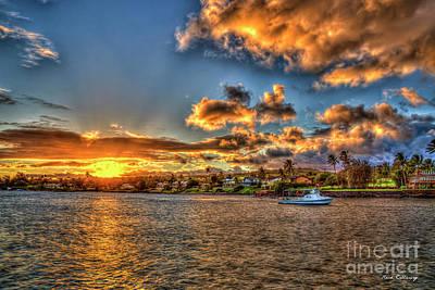 Photograph - Kukui Ula Small Boat Harbor Kauai Sunset Art by Reid Callaway