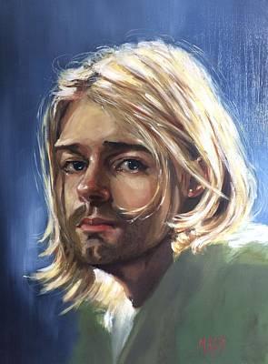 Nirvana Painting - Kurt Cobain by Marcela Rogel de Pepper