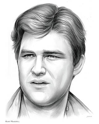 Series Drawing - Kurt Russell by Greg Joens