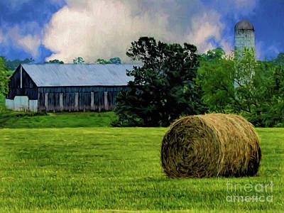 Digital Art - Ky Barn by Elijah Knight