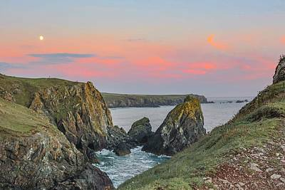 Colourful Wall Art - Photograph - Kynance Cove At Sunset  by Claire Whatley