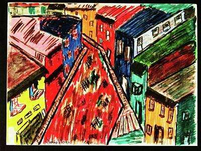Vanguard Painting - ..la Boca.. by Adolfo hector Penas alvarado