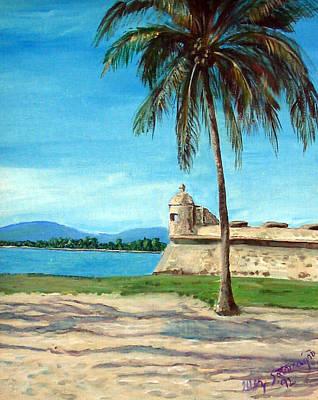 Puerto Rico Painting - La Garita by Gladiola Sotomayor