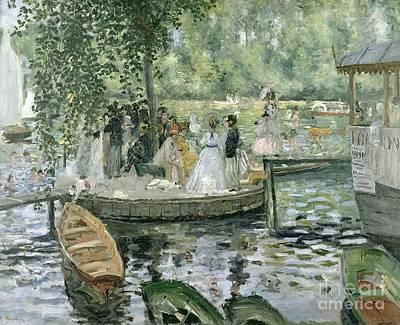 Walkway Painting - La Grenouillere by Pierre Auguste Renoir