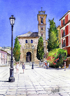 Painting - La Iglesia De Santa Ana Granada by Margaret Merry