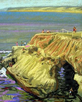 La Jolla Painting - La Jolla Swimmers  by Donald Maier