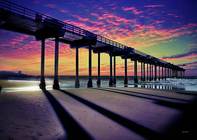 Coastal Photograph - La Jolla's Iconic Scripps Pier by Russ Harris