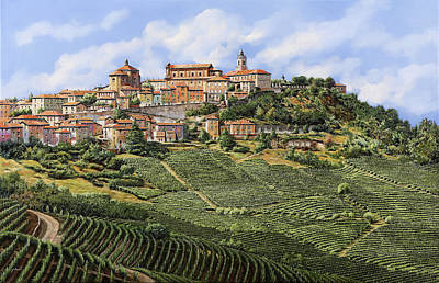 Panorama Painting - La Morra by Guido Borelli